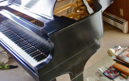 "Photo of Steinway ""L"" Grand remanufactured with new Akins Pianocraft soundboard. Marinette WI"